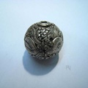 Silver parts, Tibet style ball Ø 26 mm